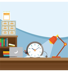 Clock character work and writing vector