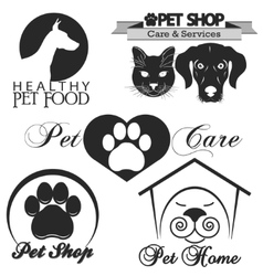 Pet shop logo vector