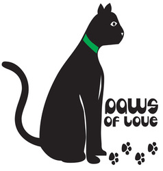 Paws of love vector
