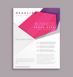 abstract geometric business flyer poster leaflet vector image