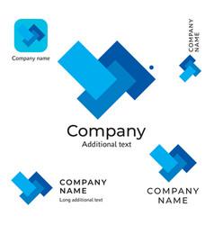 Abstract technological rectangles logo design vector