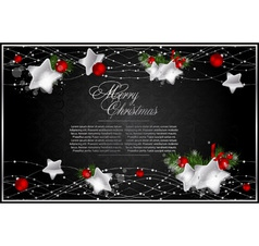 abstract xmas background vector image