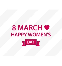 Applique to 8 march women day vector