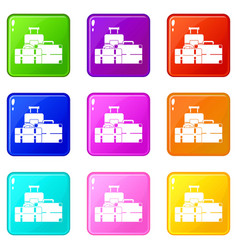 Baggage set 9 vector