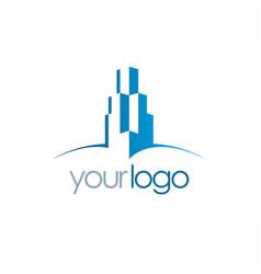 building skyscraper logo vector image vector image