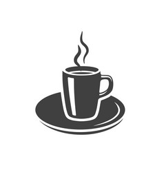 coffee tea cup icon placed on white vector image vector image