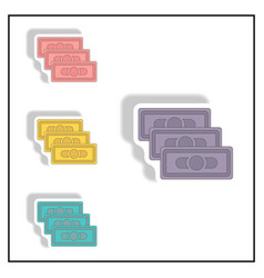 Collection in paper sticker vector