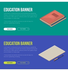 concepts of education and vector image vector image