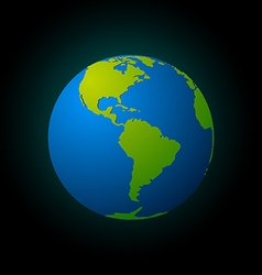Earth on black vector