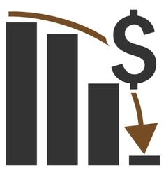 Financial crisis flat icon vector