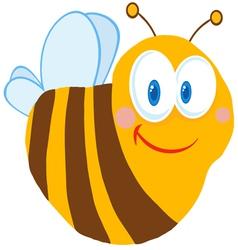 friendly bee vector image vector image