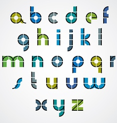 Geometric style letters alphabet vector