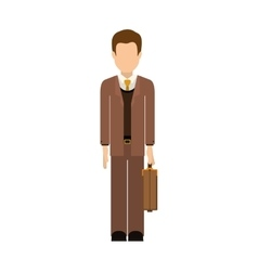 Isolated avatar man and suitcase design vector