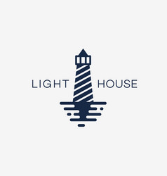 lighthouse template logo vector image vector image