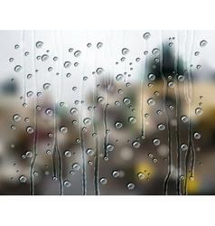 rain drops city vector image
