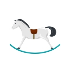 Rocking horse isolated on white vector