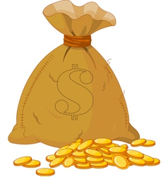 sack of gold vector image vector image