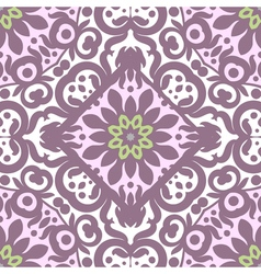 seamless pattern with bright ornament Tile in vector image