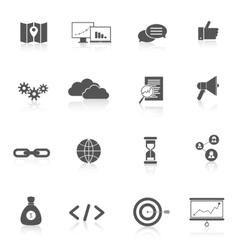SEO Marketing Set vector image vector image