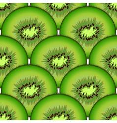 Sliced kiwi fruit vector