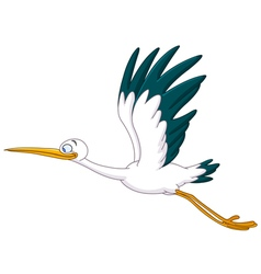 stork flying vector image vector image
