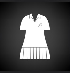 Tennis woman uniform icon vector