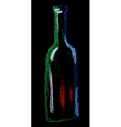 wine on black vector image