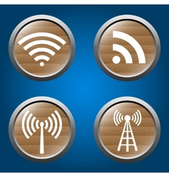 wireless icons set for business or commercial use vector image