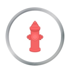 Hydrant icon in cartoon style for web vector image