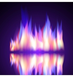 Gas fire flame burn background vector