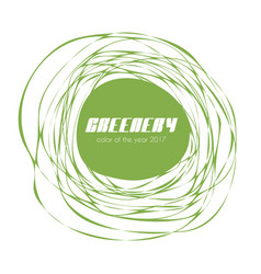 Greenery - color of the year 2017 label vector