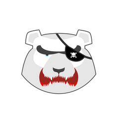 Angry bear in green beret aggressive grizzly head vector
