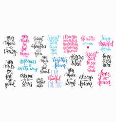 love valentines day quote typography set vector image