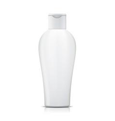 shampoo bottle white plastic bottle vector image