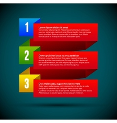 Infographic with ribbons and colored numbers vector image