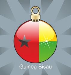 guinea Bissau flag on bulb vector image