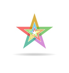 Business flat logo design concept colorful stars vector