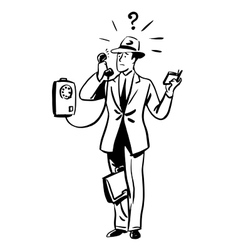 Talking phone business concept vector