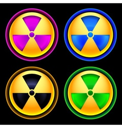 Set of colored icons radiation vector