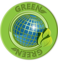 Eco green label vector