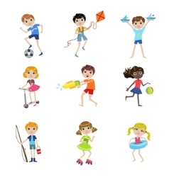 Kids On Summer Vacation Collection vector image