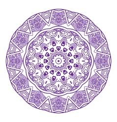 Round ornament in violet color vector