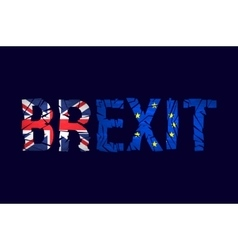 Brexit cracks text isolated united kingdom exit vector