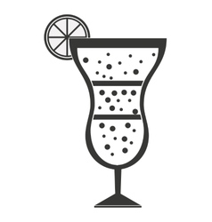 Cocktail with citrus fruit isolated icon design vector