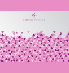 abstract pink and purple geometric triangle vector image