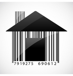 barcode home vector image