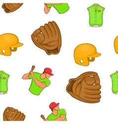 Baseball pattern cartoon style vector