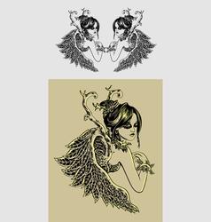 Beauty angel vector