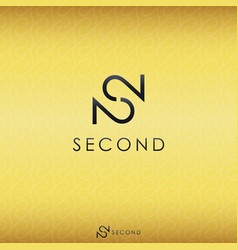black letter s and double number 2 logo concept vector image vector image