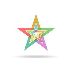 Business flat logo design concept colorful stars vector image